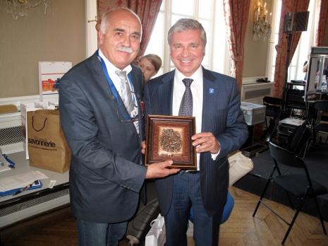 Mr Fabre Président de Cap R Cei et Mr Cheremin,ministre du gouvernement de Moscou