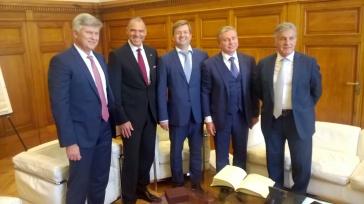 Visite à la chambre de commerce de Marseille en présence de Frédéric Ronal vice-président en charge de l'international