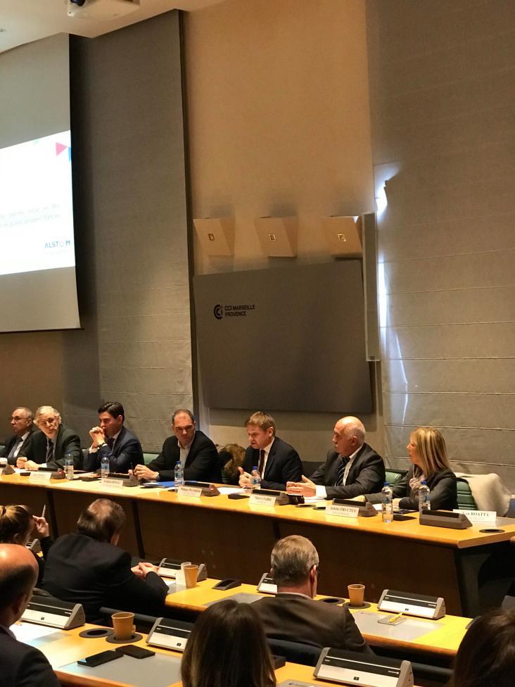 De gauche à droite: Marc Chabaud, Dimitri Verdet, David Lasfargue, Frédéric Ronal, Phillippe Pégorier, Thierry Fabre, Alertte Fructus